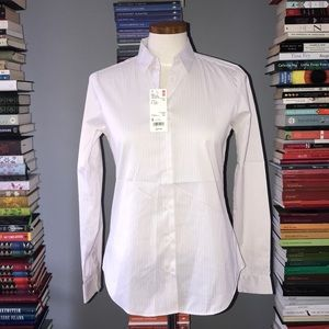 NWT Uniqlo Supima Cotton Stretch Striped Shirt